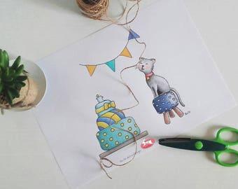 Digi Stamp Clip Art Coloring Page