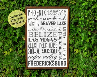 10 Year Anniversary Gifts for Men Birthday, 10 Year Anniversary for Her Birthday, Custom Subway Sign, Subway Art, Office Wall Art Wood Signs