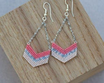 Earring Colette (Coral & pink)