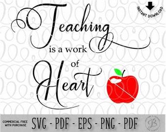 Teacher svg / Teacher DXF file / Teacher Quote svg / Svg files / Teacher cutting files for cricut & Silhouette