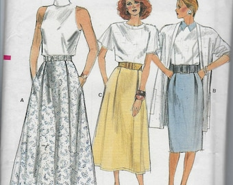 Vintage Very Easy Very Vogue Sewing Pattern 9850 Skirt Size 14 16 18  Uncut Factory Folded