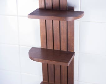 vintage wood wall shelf, stand, herbs, spices, kitchen, bathroom, storage, home decor
