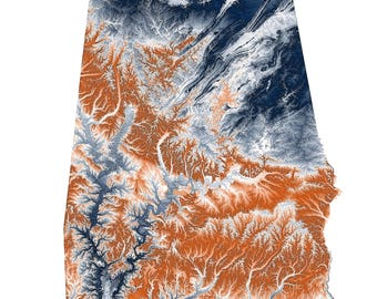 Auburn University Topographic Map