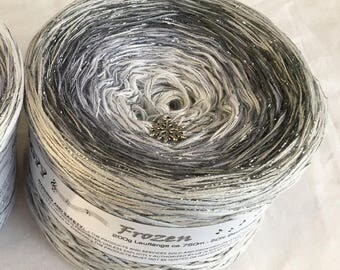 Frozen - RTS - Christmas Yarn - Holiday Yarn - Gradient Yarn - Wolltraum Yarn - Crafty Gift - Yarn Gift - Ombre Yarn - Ice Yarn - Silver