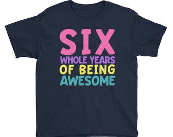Sixth Birthday Party Shirt - Six 6 Year Old Shirt for Girls - Birthday Shirt for Girls 6 - Birthday Girl Shirt 6 Sixth Birthday Gift Shirt