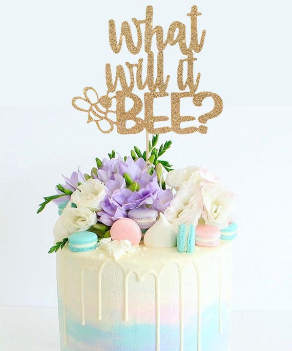 What Will It Bee Cake Topper For Gender Reveal Baby Shower