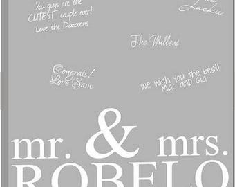 Canvas Guestbook Wedding Guest Book Alternative to Guest Book Signature Art Canvas - can match any wedding colors- farmhouse rustic decor