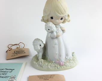 Vintage Precious Moments The Lord Is My Shepherd 1985 Members Only Figurine PM-851