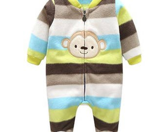 Little Monkey Baby Romper