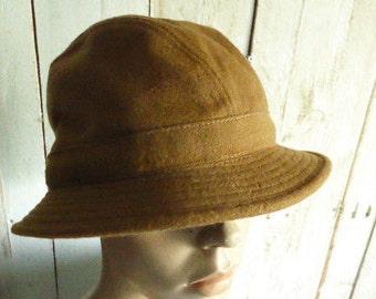Vintage Original Camel Tiroler Loden, UnisexTiroler hat
