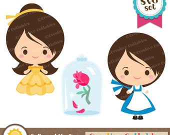 Beauty and the Beast SVG cutting files for scrapbooking, card making, die cuts, disney