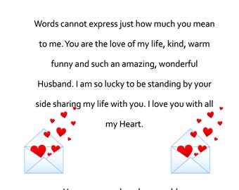 Husband Vlentines Day Card from your Husband 2