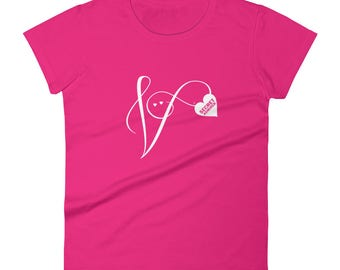 Secret Admirer Fashion Fit T-Shirt | Valentine's Day | Art for Lovers | Romance | Ladies' Gift Tee