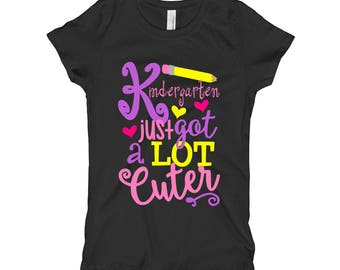 Kindergarten Shirt - Girls Back to School Shirt - Kindergarten just got a lot cuter Shirt - Girls Ruler Shirt - Kids Shirt