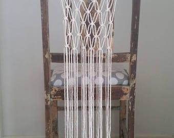 Macrame Chair Backs Tie on Wedding Aisle Decorations