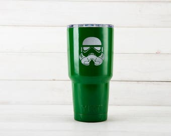 Yeti Cup, Star Wars Stormtrooper Etched Yeti Mugs, Stormtrooper Birthday Gift, Custom Yeti Cups With Stormtrooper Engraved