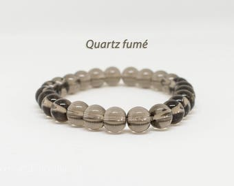 Bracelet 8mm smoky Quartz beads