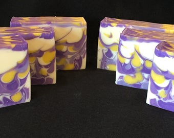 Handmade Cold Process Soap Lavender + Cedar - Clean & Relaxing Scent! Natural Oils!