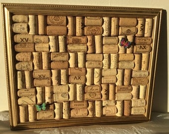 WINE CORK BOARD - made from authentic, recycled Portuguese corks