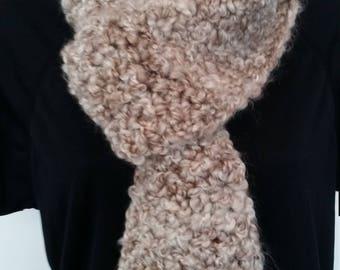 Beige scarf bouclé