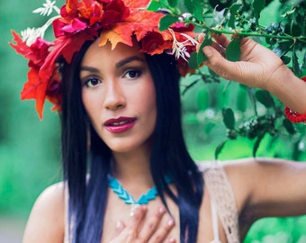 Disney Princess Pocahontas Flower Crown