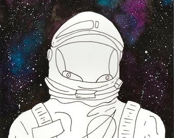 Watercolor Galaxy Spaceman