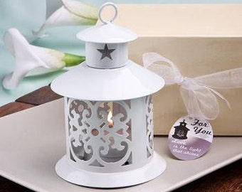 Beautiful White Metal Lantern