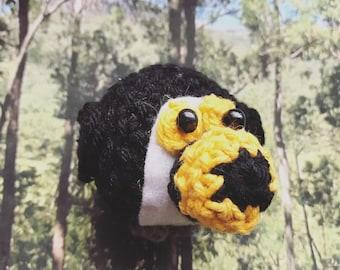 Little Toucan Amigurumi, crocheted animal, tropical bird