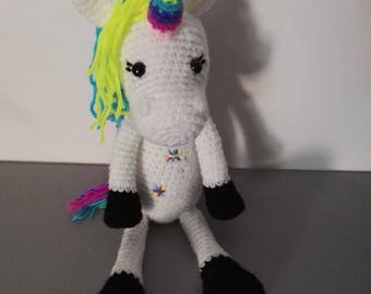 Unicorn Crochet Rainbow Unicorn