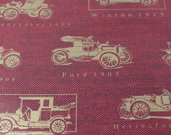 Vintage Fathers Day Gift Wrapping paper, Fathers Day gift wrap, Vintage Wrapping Paper, Gifts for him, Car Lover wrapping paper,