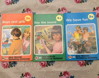 Vintage ladybird books reading scheme 1980s gloss cover