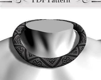 Bead crochet rope pattern, Bead Crochet Necklace Pattern, pattern for bead crochet necklace, Bead Crochet Tutorial master class Statement