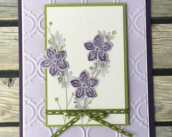 Lavender Floral Spray Any Occasion Greeting Card