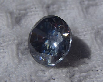 GORGEOUS Marine Deep Blue/Grey, VVS1, Oval-cut, 2.35 TCW, Loose Moissanite Stone!  **Truly One of a Kind**