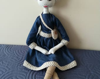 Lucy - Unique Handmade Doll - Large 70cm