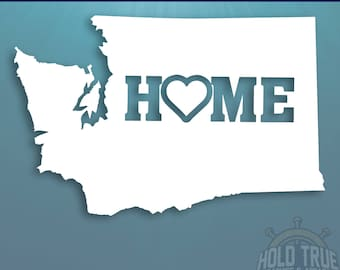 Washington Decal - PICK COLOR and SIZE - Washington Home Decal - Wa Decal - Washington Car Decal - Washington sticker - Washington