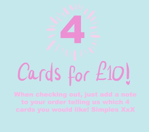 ANY 4 cards for a Tenner!