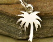 Sterling Silver Palm Tree Charm - Make your own charm necklace - Charm it Yourself