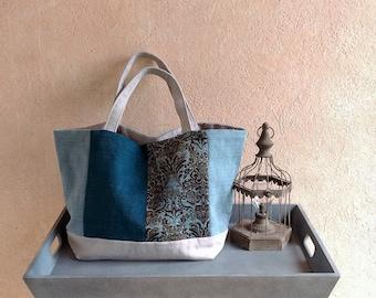 Handamade Fabric Bag, Slouch Bag, Unique Bag