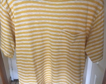 ARMOR LUX striped shirt yellow S/M