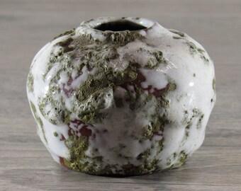 VTG 1960-70s Studio Art Pottery Mini Vase German Fat Lava Era Midcentury Modern