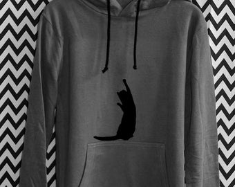 HOODY PLAYING CAT cat organic fairtrade