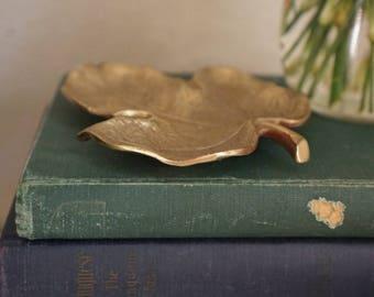 Vintage Brass Leaf