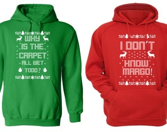 Free Shipping Why is the Carpet All Wet Todd Don't Know Margo Ugly Christmas Sweater Men Women Hoodies Green Red