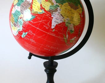OutoftheBoxUrns World Globe on Stand Traveler Geography Cremation Urn