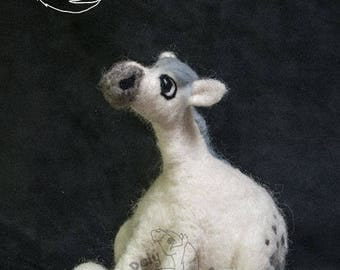 Roly Poly Connemara Pony - Needle Felted decorative sculpture.