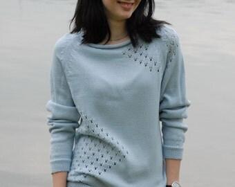 """ANJA"" sweater made of fine Merino Wool."