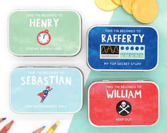Personalised Keepsake Tin for the Boys