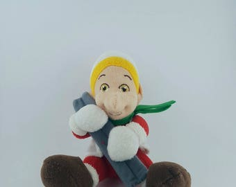 Coca Cola - Elf - Vintage elf - Coca Cola Collectible - Soft Plush Toy - Collectible Elf - Coca Cola Toy.