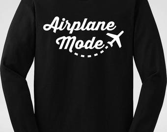 Airplane Mode Sweat Shirt   Wanderlust Sweater   Travel Clothes   Gift for Her   Bridesmaid Gift Ideas   Bachelorette Party Shirts